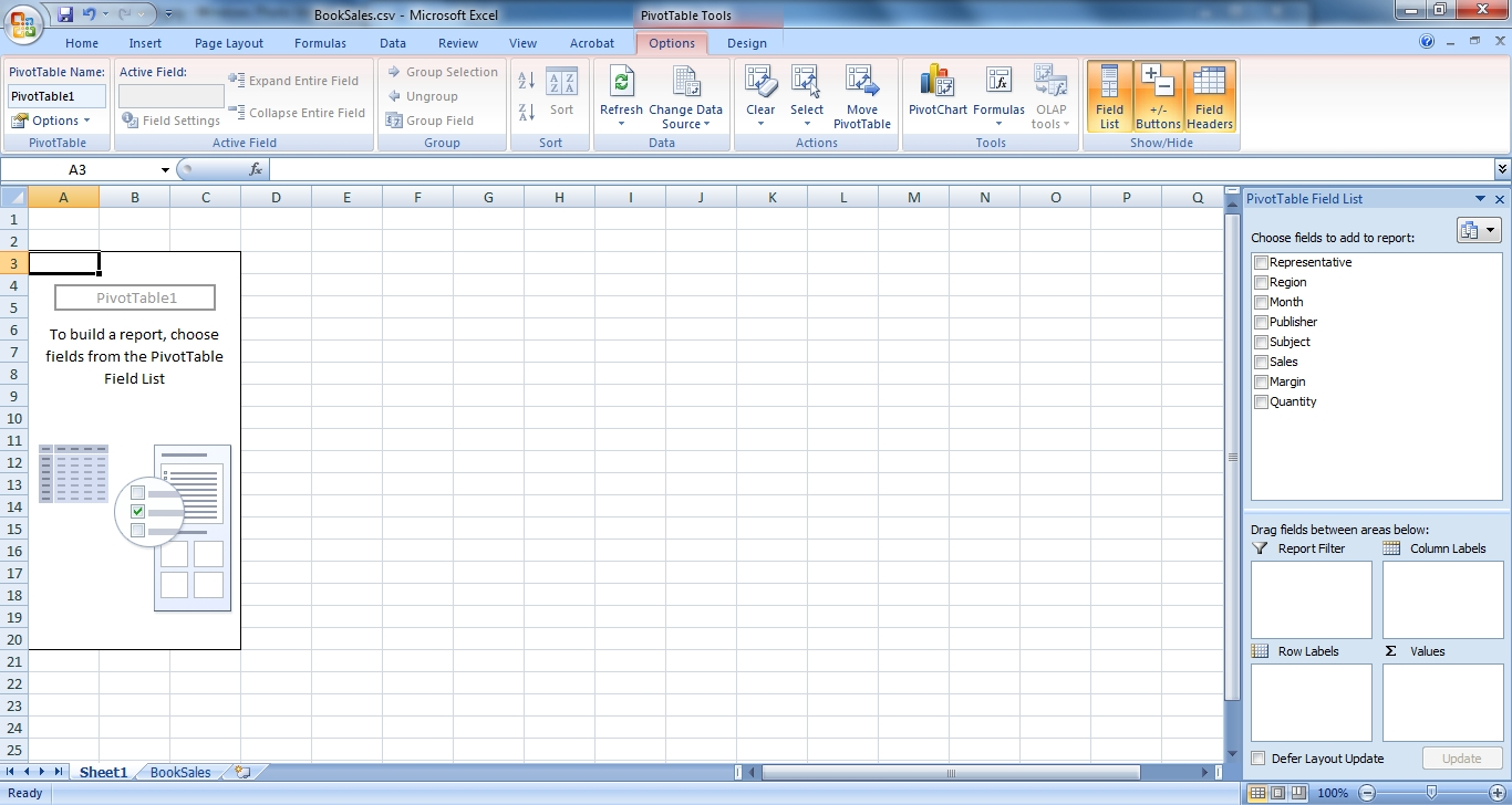 """The Important Part Is The €�pivottable Field List"""" Menu To The Right Of The  Screen In The Top Half, You Have A List Of The Variables In Your Data"""